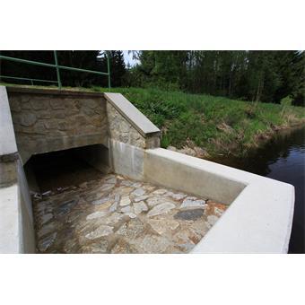 Obnova bezpečnostního přelivu Křišťanovického potoka