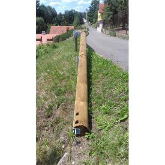 Dodávka a montáž dřevoocelových silničních svodidel